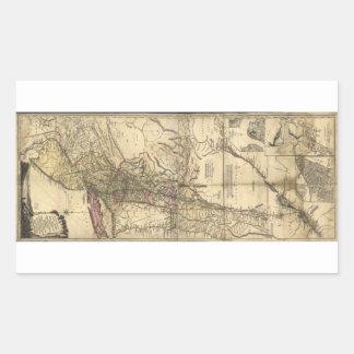 Mapa de New Jersey Pennsylvania Nueva York (1777) Pegatina Rectangular