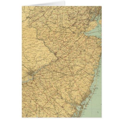 Mapa de New Jersey Tarjeta De Felicitación