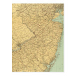 Mapa de New Jersey Tarjeta Postal
