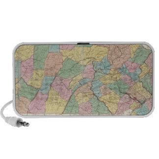 Mapa de New Jersey y de Pennsylvania Mini Altavoces