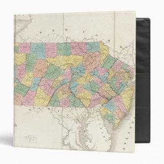 Mapa de New Jersey y de Pennsylvania