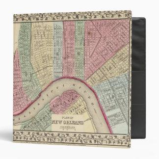 "Mapa de New Orleans de Mitchell Carpeta 1 1/2"""