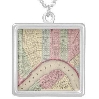 Mapa de New Orleans de Mitchell Colgante Cuadrado