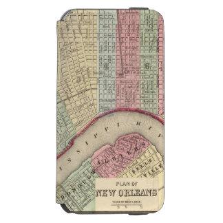 Mapa de New Orleans de Mitchell Funda Billetera Para iPhone 6 Watson