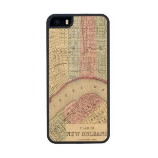 Mapa de New Orleans de Mitchell Funda De Arce Carved® Para iPhone 5 Slim