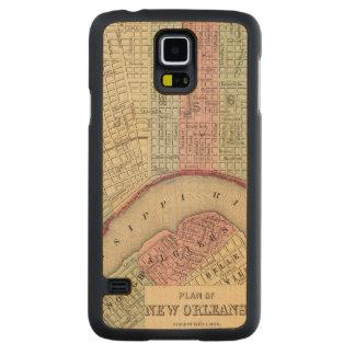 Mapa de New Orleans de Mitchell Funda De Galaxy S5 Slim Arce