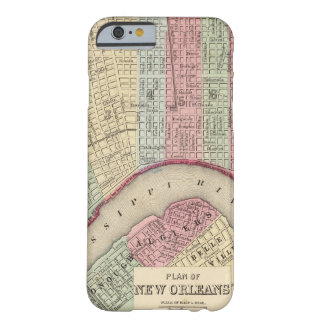 Mapa de New Orleans de Mitchell Funda De iPhone 6 Barely There