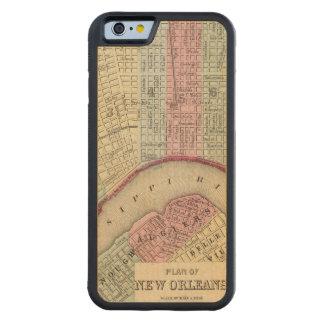 Mapa de New Orleans de Mitchell Funda De iPhone 6 Bumper Arce