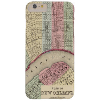 Mapa de New Orleans de Mitchell Funda Para iPhone 6 Plus Barely There