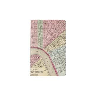 Mapa de New Orleans de Mitchell Funda Para Libreta Y Libreta Pequeña Moleskine