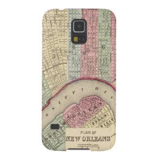 Mapa de New Orleans de Mitchell Fundas De Galaxy S5
