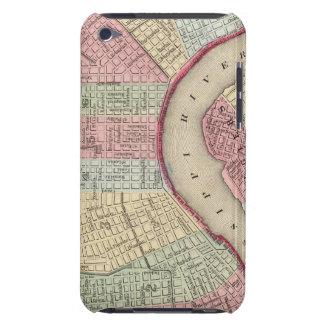 Mapa de New Orleans de Mitchell iPod Touch Case-Mate Carcasas