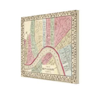 Mapa de New Orleans de Mitchell Lienzo Envuelto Para Galerías