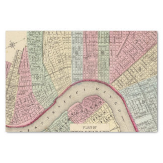 Mapa de New Orleans de Mitchell Papel De Seda Pequeño
