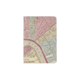 Mapa de New Orleans de Mitchell Porta Pasaporte