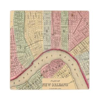 Mapa de New Orleans de Mitchell Posavasos De Arce