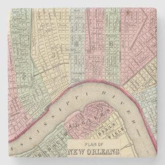 Mapa de New Orleans de Mitchell Posavasos De Piedra
