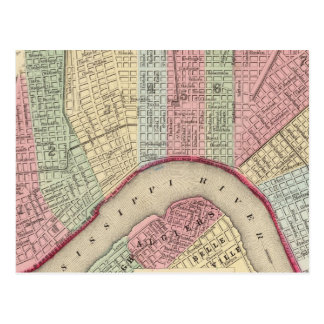 Mapa de New Orleans de Mitchell Postal