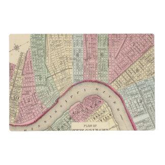 Mapa de New Orleans de Mitchell Salvamanteles