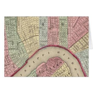 Mapa de New Orleans de Mitchell Tarjeta De Felicitación
