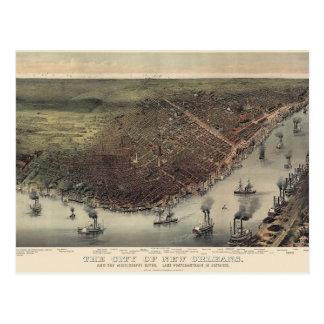 Mapa de New Orleans Postales