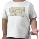 Mapa de New Orleans y del país adyacente Camisetas