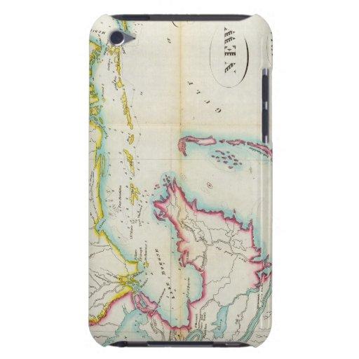Mapa de New Orleans y del país adyacente iPod Touch Case-Mate Funda
