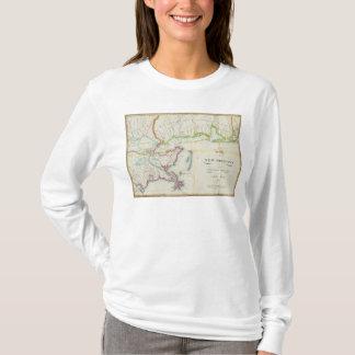 Mapa de New Orleans y del país adyacente Playera