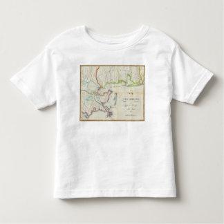 Mapa de New Orleans y del país adyacente Playera De Bebé