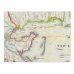 Mapa de New Orleans y del país adyacente Postal