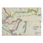 Mapa de New Orleans y del país adyacente Tarjeta De Felicitación
