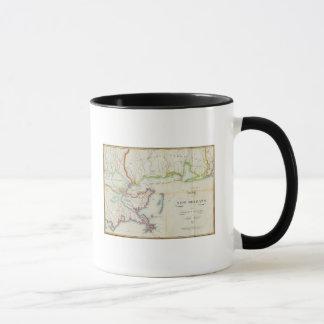 Mapa de New Orleans y del país adyacente Taza