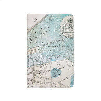Mapa de New York City, 1728 Cuaderno Grapado