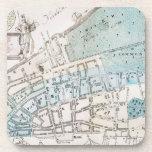 Mapa de New York City, 1728 Posavasos De Bebidas