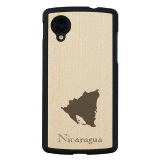 Mapa de Nicaragua Funda De Nexus 5 Carved® De Arce