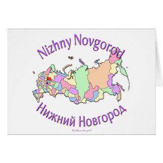 Mapa de Nizhny Novgorod Rusia Tarjeta De Felicitación