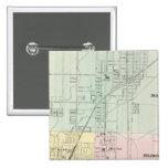 Mapa de normal, Bloomington Pin Cuadrada 5 Cm