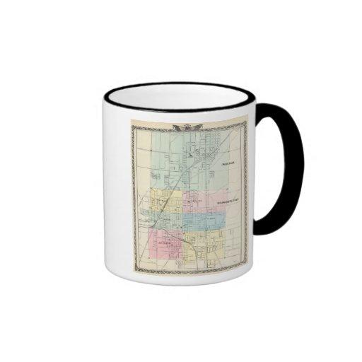 Mapa de normal, Bloomington Taza A Dos Colores