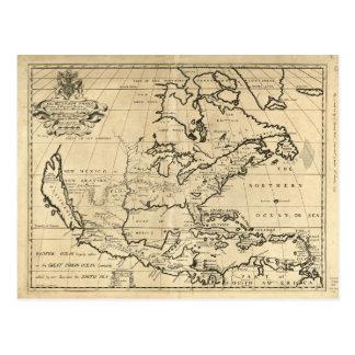 Mapa de Norteamérica (1722) Postales