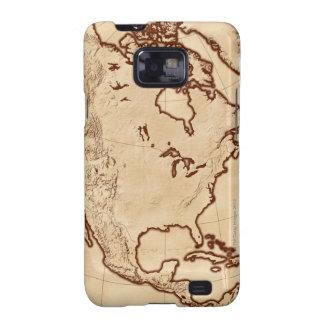 Mapa de Norteamérica 2 Samsung Galaxy SII Carcasa