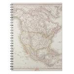 Mapa de Norteamérica 2 Libro De Apuntes Con Espiral
