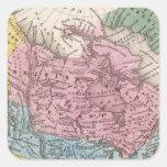 Mapa de Norteamérica 2 Pegatina Cuadrada