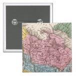 Mapa de Norteamérica 2 Pin Cuadrado