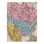 Mapa de Norteamérica 2 Postales
