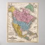 Mapa de Norteamérica 2 Póster