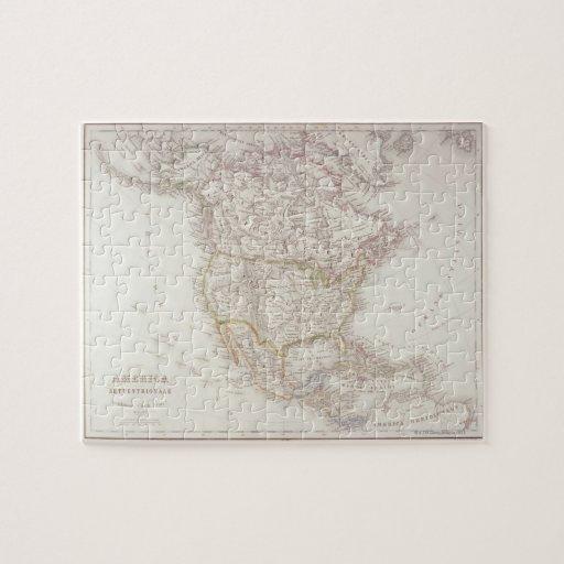 Mapa de Norteamérica 2 Rompecabezas Con Fotos