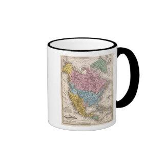 Mapa de Norteamérica 2 Tazas De Café