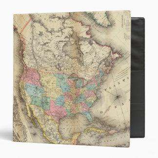 """Mapa de Norteamérica 3 Carpeta 1 1/2"""""""