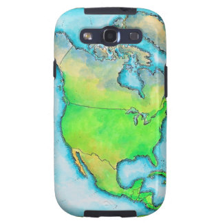 Mapa de Norteamérica 3 Galaxy S3 Protector