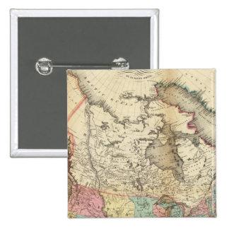 Mapa de Norteamérica 3 Pin Cuadrada 5 Cm